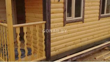 Готовая баня 2.3 на 7 с террасой (три комнаты)