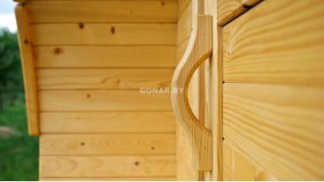 Баня-бочка «Gonar» 3.5 метра с крыльцом