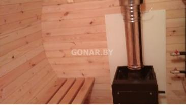 Баня-бочка «Gonar» 3 метра с козырьком