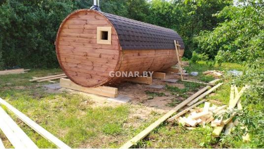 Баня бочка «Gonar» 6 метров (3 отделения)