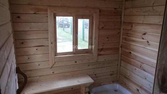 Компактная баня 2.3 на 4 для дачи (две комнаты)