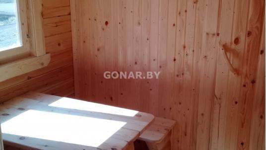 Готовая баня 2.3 на 8 с террасой 2x2 метра