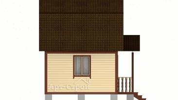 Дачный домик 4 на 5 с мансардой
