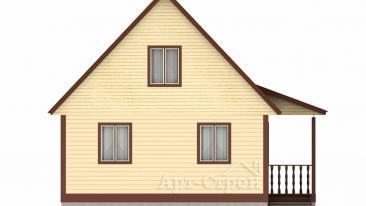 Дом из бруса 6 на 6 с мансардой