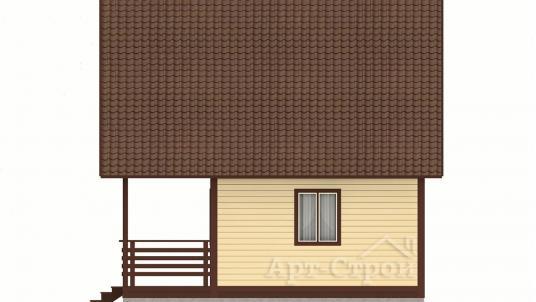 Дом 6х6 с террасой и мансардой