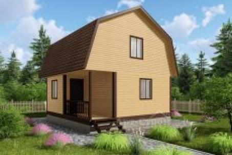 Дом из бруса 6х6 с мансардой