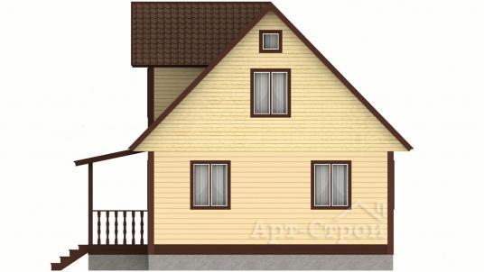 Дом из бруса 6х9 с мансардой
