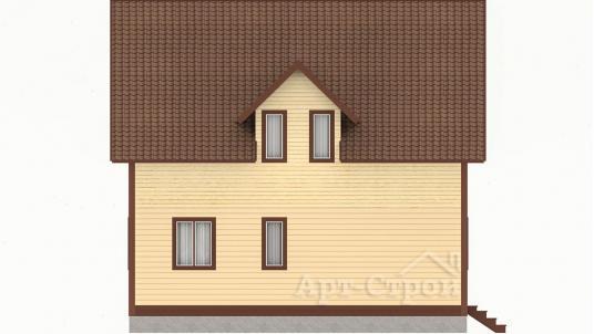 Дом 8 на 8 с мансардой
