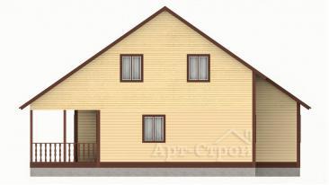 Дом 8 на 9 с мансардой