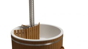 Купель композитная круглая «Премиум» с подогревом термососна