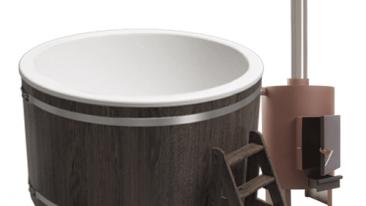 Купель композитная круглая «Классик» с печью 45квт термоясень