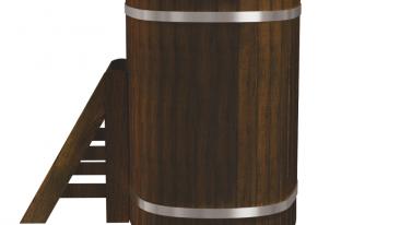 Одноместная купель «Стандарт+» термоясень