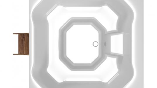 Купель композитная квадратная «Quattro cold» термососна