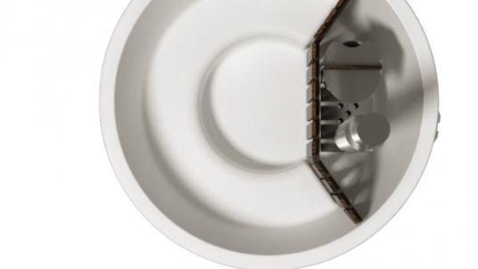 Купель композитная круглая «Терраса» с подогревом