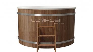 Купель композитная угловая «Корнер+» термососна