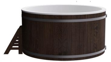 Купель композитная круглая «Премиум» термоясень