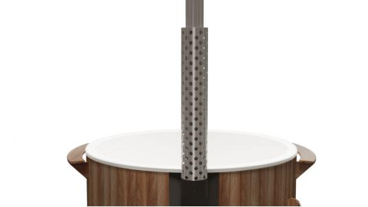 Купель композитная круглая «Элит» с подогревом термососна